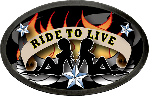 Ride To Live Tattoo Belt Buckle