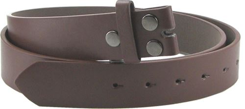 High Quality Brown Snap On PU Leather Belt