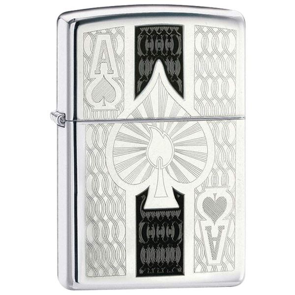 Zippo Ace Lighter High Polish Chrome