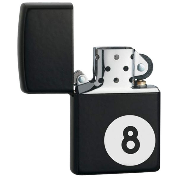 Zippo 8-Ball Lighter Matte Black Finish