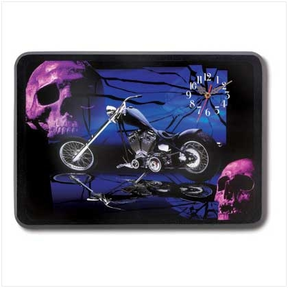 The Dark Side Chopper Biker Clock