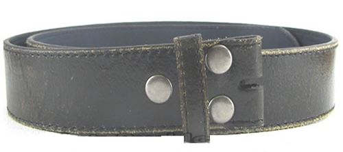Black Leather Distressed Belt is 1.5