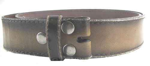 Brown Leather Distressed Belt is 1.5