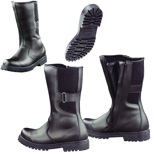 Leather Biker Boots PU Coated