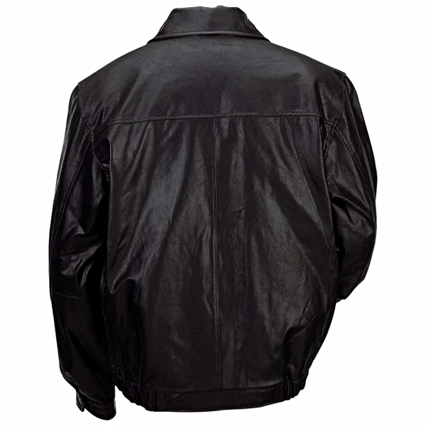 Leather Bomber Style Jacket