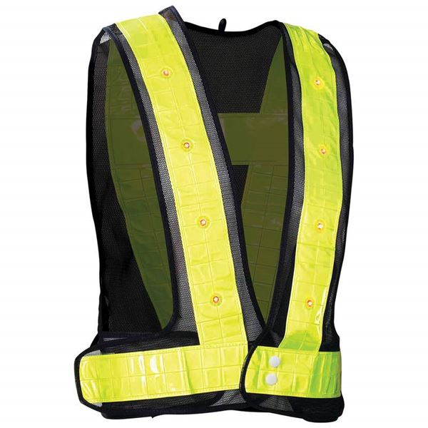 Flashing LED vest safety gear for nighttime