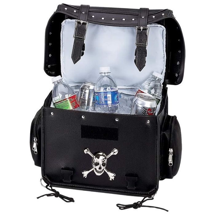 Motorcycle Trunk Cooler Bag Skull Medallion