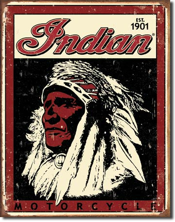 Indian Motorcycle established 1901 Tin Sign