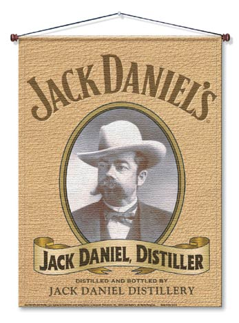 Jack Daniels Portrait Canvas Wall Hanging