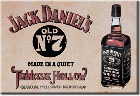 Jack Daniels Tennessee Hollow Ice Box Magnet