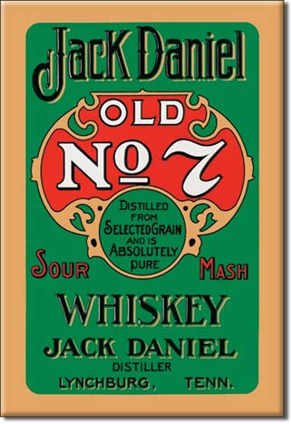 Jack Daniels Whiskey Ice Box Magnet
