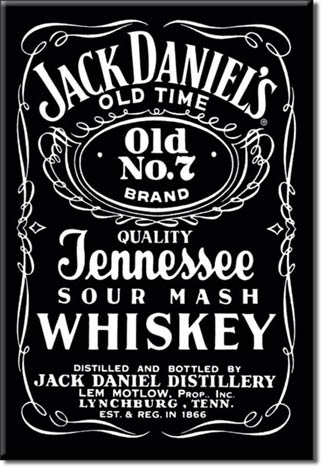 Jack Daniel Black Ice Box Magnet