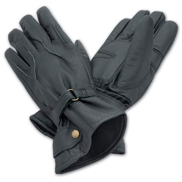Solid Genuine Leather Motorcycle Gloves