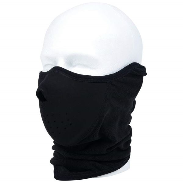 Neoprene and fleece face warmer