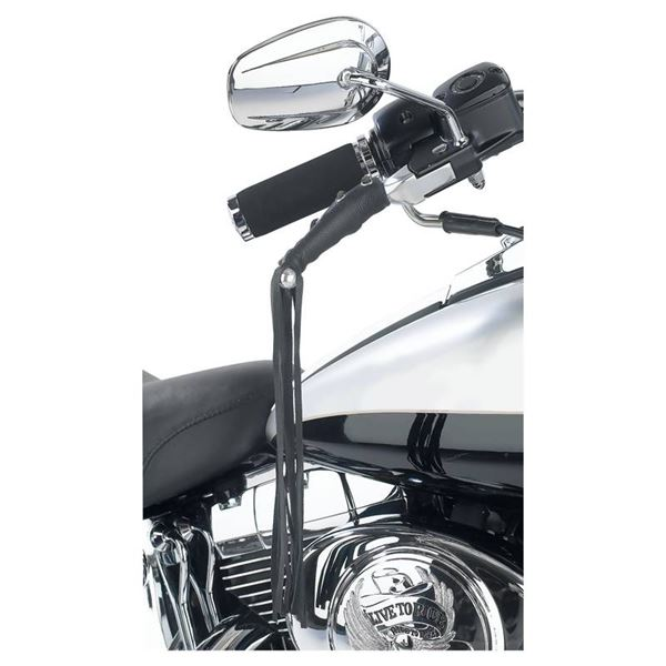 Solid Genuine Leather Black Motorcycle Lever Covers