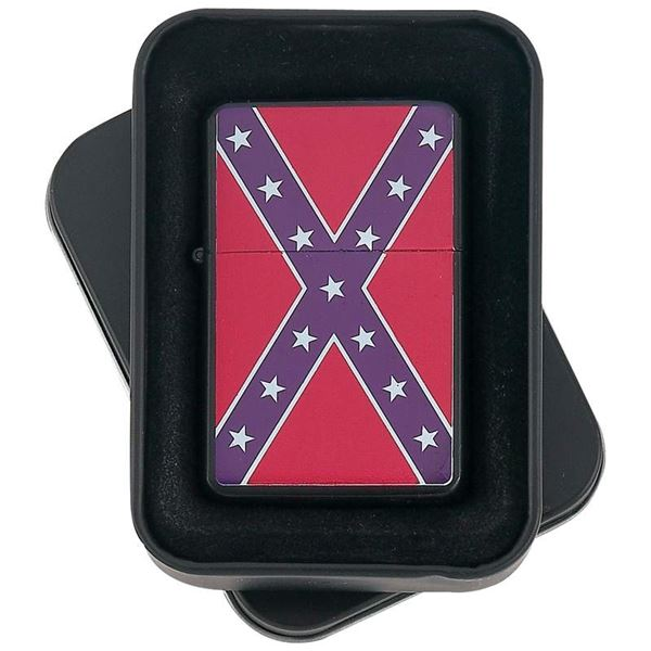 Confederate Flag Lighter Matte Black Finish