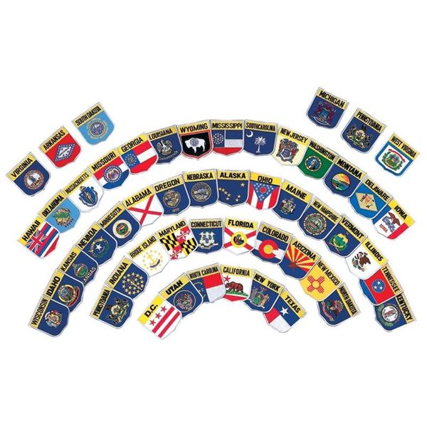 77pc Embroidered State Flag Patch Set