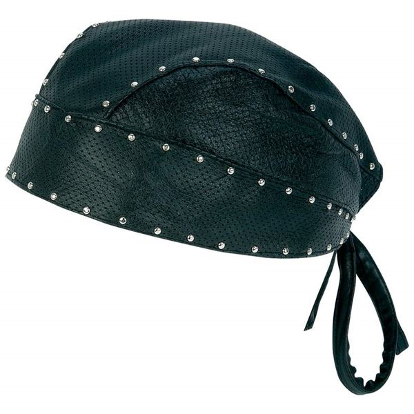 Leather perforated skull cap