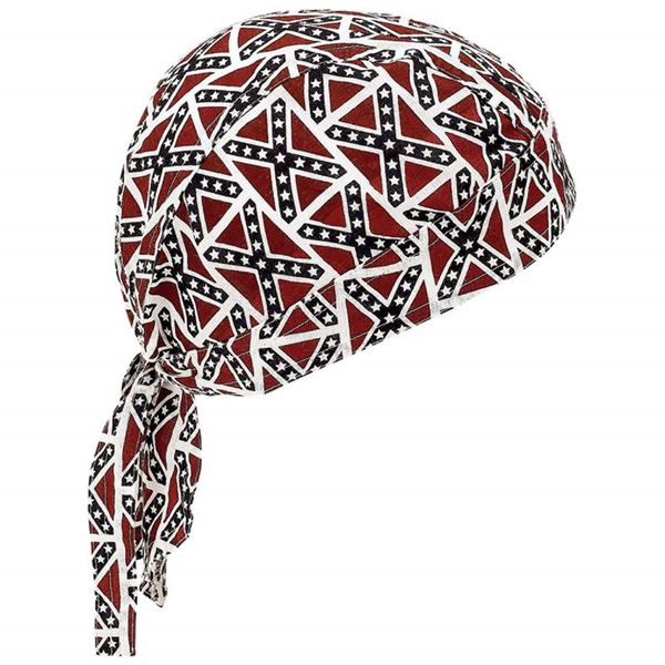 Rebel flag cotton skull caps