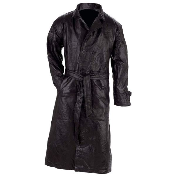Genuine Leather Trench Coat, Motorcycle Jacket