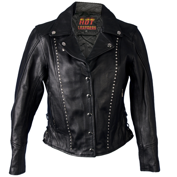 Hot Leathers Ladies Studded Leather Jacket