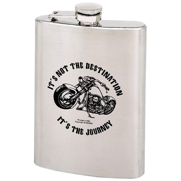 ITS NOT THE DESTINATION 8oz Hip Flask