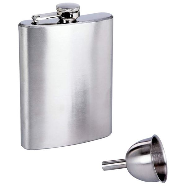 8oz Stainless Steel Hip Flask with Funnel