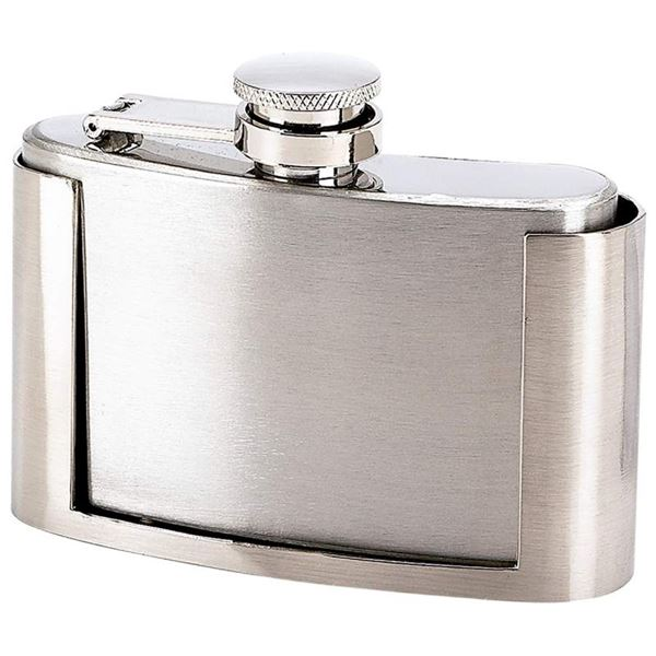 3oz Stainless Steel Belt Buckle Flask
