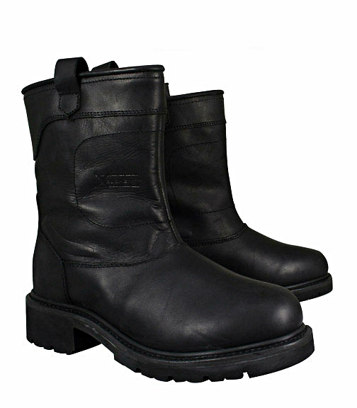 Leather Short Engineer Boots