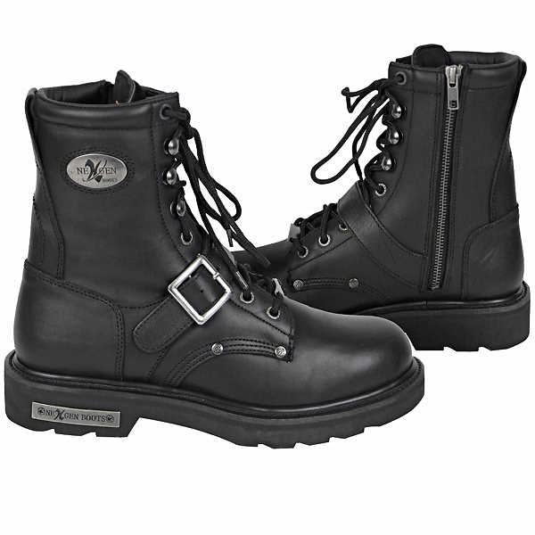 Motorcycle Boot Black Road Logger