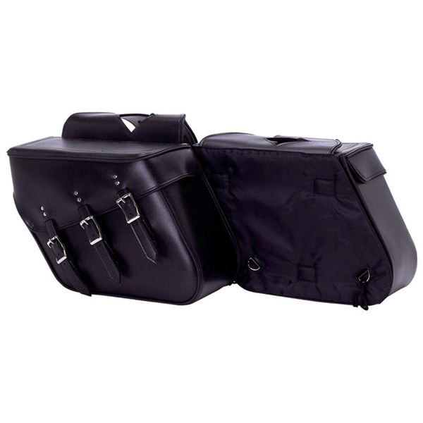 2pc Slanted Motorcycle Saddle Bag Set