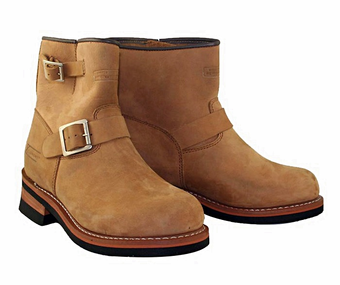 Brown Engineer Motorcycle Boots