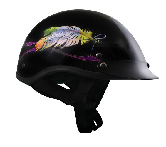 Floating Feather Half Helmet