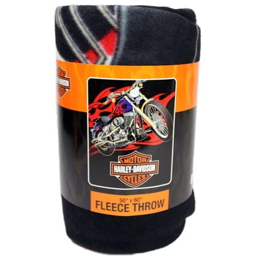 Soft Tail Licensed Harley Davidson Fleece Blanket
