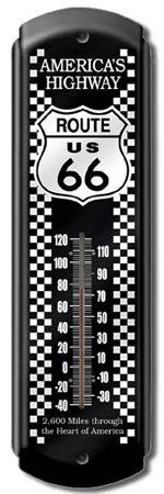 ROUTE 66 Garage or Home Thermometer