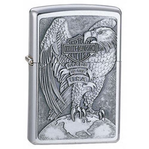 Zippo Brushed chrome finished lighter with HD Eagle