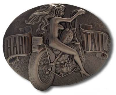Big Hard Tail Buckle Pewter Belt Buckle
